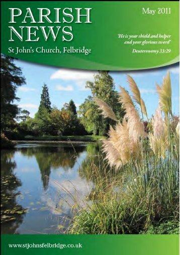 from the editor - St John's Felbridge