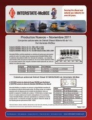 Productos Nuevos – Noviembre 2011 - Interstate McBee