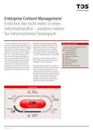 ECM-Flyer. - TDS AG - Fujitsu