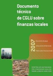 Documento técnico de CGLU sobre finanzas locales - UCLG