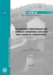 Un modello territoriale per l'analisi economica sull'uso dell ... - Inea