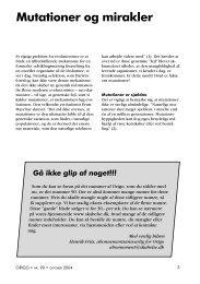 Mutationer og mirakler - Skabelse.dk