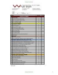 Wattech System price list