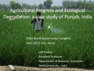 Agricultural Progress and Ecological Degradation: a case study of ...
