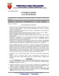 AUTORIZZAZIONE N 03 2012.pdf - Provincia dell'Ogliastra
