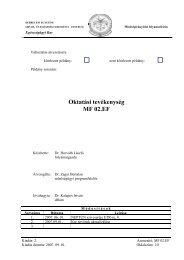 Oktatási tevékenység MF 02.EF - Egészségügyi Kar