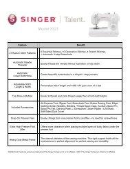Product Sheet - Singer