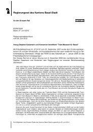 Regierungsrat des Kantons Basel-Stadt - Grosser Rat - Basel-Stadt