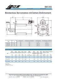 ISK 410 Bürstenlose Servomotore mit hohem Drehmoment - IGAS