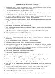 Pytania na egzamin magisterski - Zakład Chemii Analitycznej