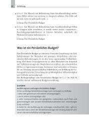 Was ist ein Persönliches Budget? - BALANCE buch + medien verlag