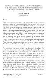 """BETWEEN ORIENTALISM AND POSTMODERNISM: THE ..."