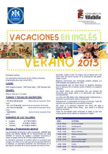 ~$lleto TALLERES VERANO A4 2013 - Ayuntamiento Villalbilla