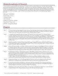 Historisk studierejse til Tunesien Program - Akademisk Rejsebureau