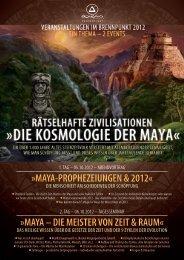 Flyer – Die Kosmologie der Maya - Blog von VICIENTE.AT