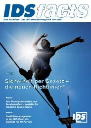 Das Kunden- und Mitarbeitermagazin von IDS - IDS Logistik GmbH