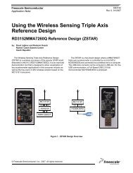 AN3152, Using the Wireless Sensing Triple Axis Reference Design