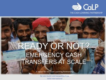 ready or not? emergency cash transfers at scale - FAO