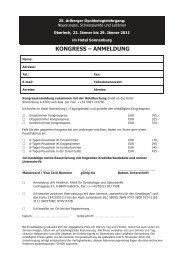 KONGRESS – ANMELDUNG - Österreichische Gesellschaft für ...