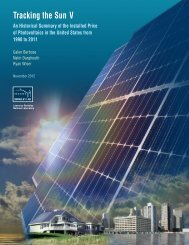 Tracking the Sun - Electricity Market and Policy - Lawrence Berkeley ...
