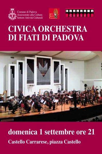 CIVICA ORCHESTRA DI FIATI DI PADOVA - PadovaCultura ...