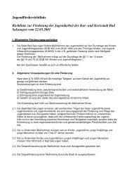 Jugendförderrichtlinie Richtlinie zur Förderung der Jugendarbeit der ...
