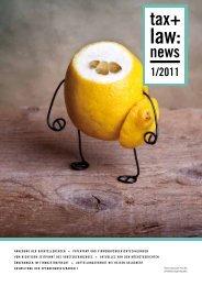 TAX&LAW:NEWS 1/2011 - cortolezis.eu