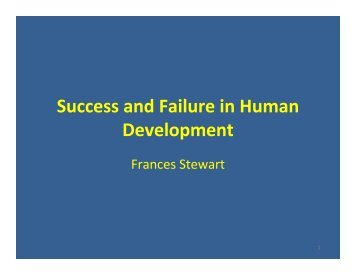 Success and Failure in Human Development - OPHI