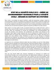 ETAT DE LA SOCIÉTÉ CIVILE 2013 – CRÉER UN ... - Civicus
