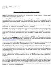 Allgemeine Informationen zur Anfängerpflichtübung HUBER Beginn ...