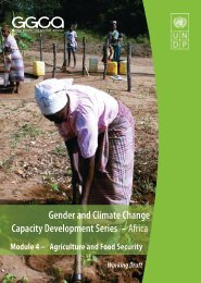 Gender and Climate Change Capacity Development ... - UN CC:Learn