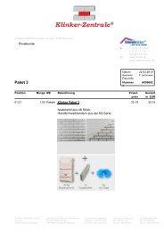 Paket 3 - Klinker - Zentrale GmbH