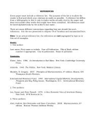 REFERENCES Every paper must include a reference list. The ...