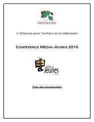L'Alliance pour l'enfant et la télévision - Alliance médias jeunesse
