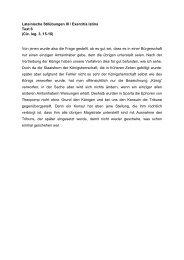 Lateinische Stilübungen III / Exercitia latina Text 6 (Cic. leg. 3, 15-16 ...
