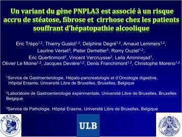 Un variant du gène PNPLA3 est associé à un risque accru de ... - Afef