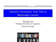 Semantic Annotation: from Text to Multimedia Content