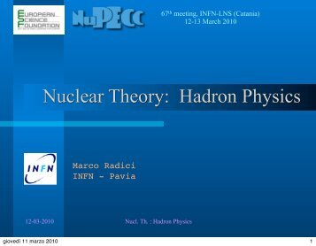 Hadron Physics - NuPECC