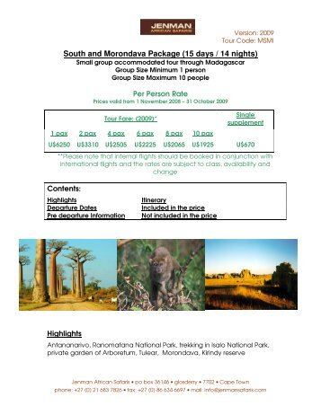 South_and_Morondava_.. - Jenman African Safaris