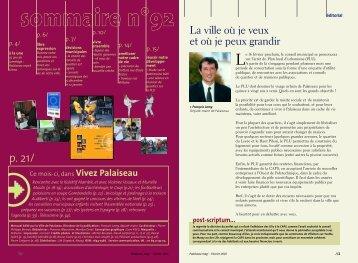Mag. 90 - novembre 2004 - Ville de Palaiseau