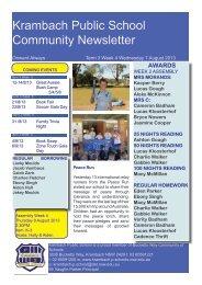 Term 3 Week 4 7 August 2013 (pdf 5 MB) - Krambach Public School
