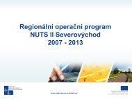 Příjemce - Regionální rada regionu soudržnosti Severozápad