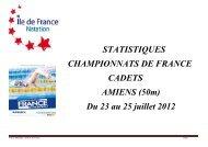 Du 23 au 25 juillet 2012 - Comité Ile de France