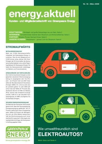 Zusammenfassung Energiekongress Greenpeace Energy 2008