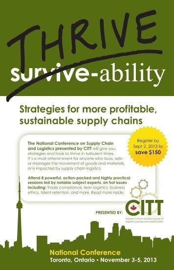 2013 Conference Brochure - FINAL.indd - CITT