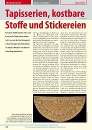 Tapisserien, kostbare Stofie und Stickereien - Vienna Guide Service