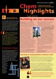05-13 Chem Highlights AMEND:Chem news - University of York
