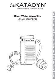 Hiker Water Microfilter (Model #8013829)