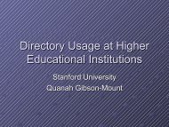Higher Education and Directory Technologies - OpenLDAP