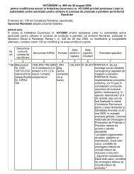 Hotararea Guvernului nr. 888 din 20 august 2008 pentru ... - MADR